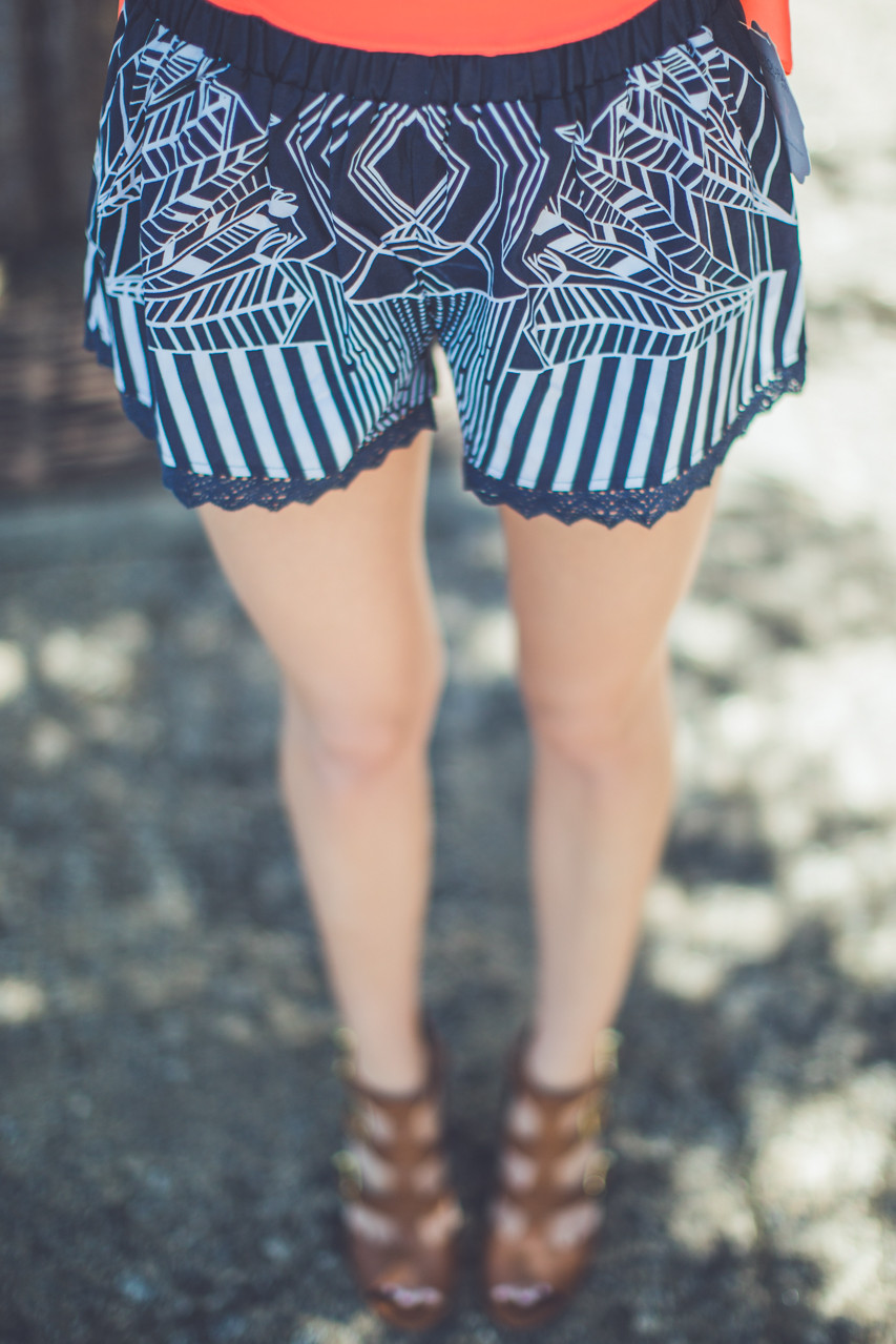 Printed Cotton Shorts, $28