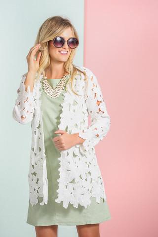 Brittany White Lace Kimono, $70.99