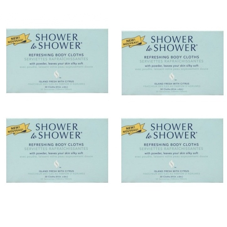 Shower to Shower  (4 packs of 30 ea)