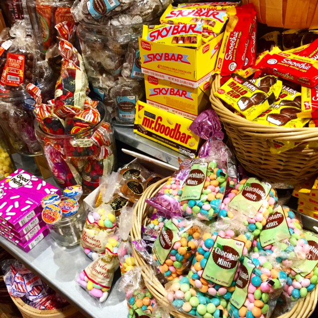 Mountain of sweets at Cracker Barrel
