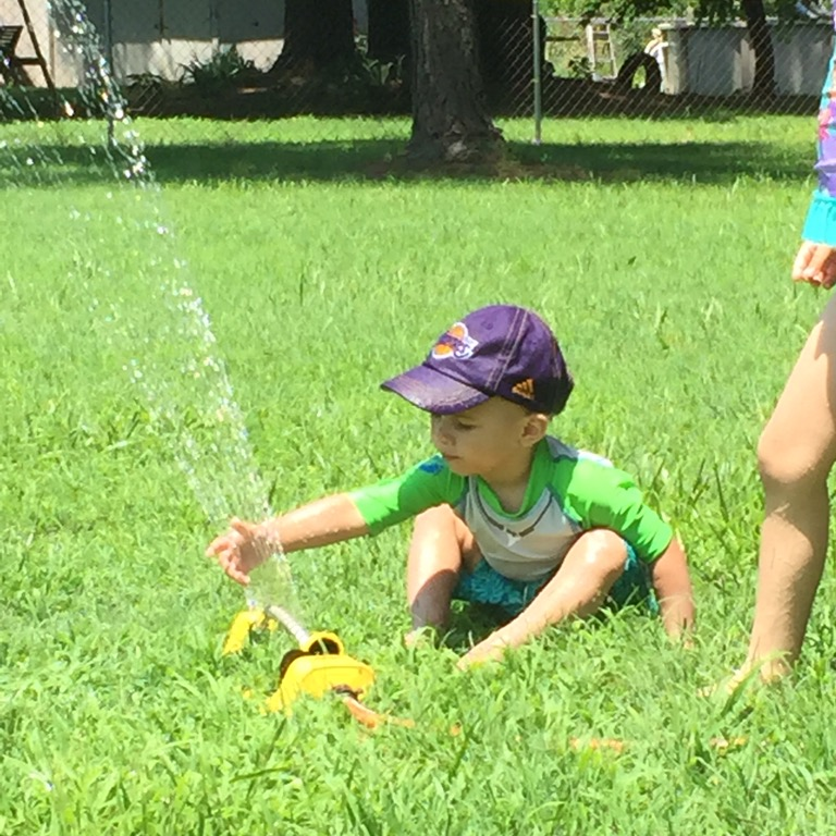 Enjoying more water play in a state that's not having a drought.