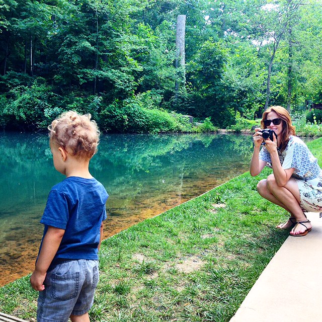 Throwback to our family trip to Arkansas - taking a photograph while being photographed.