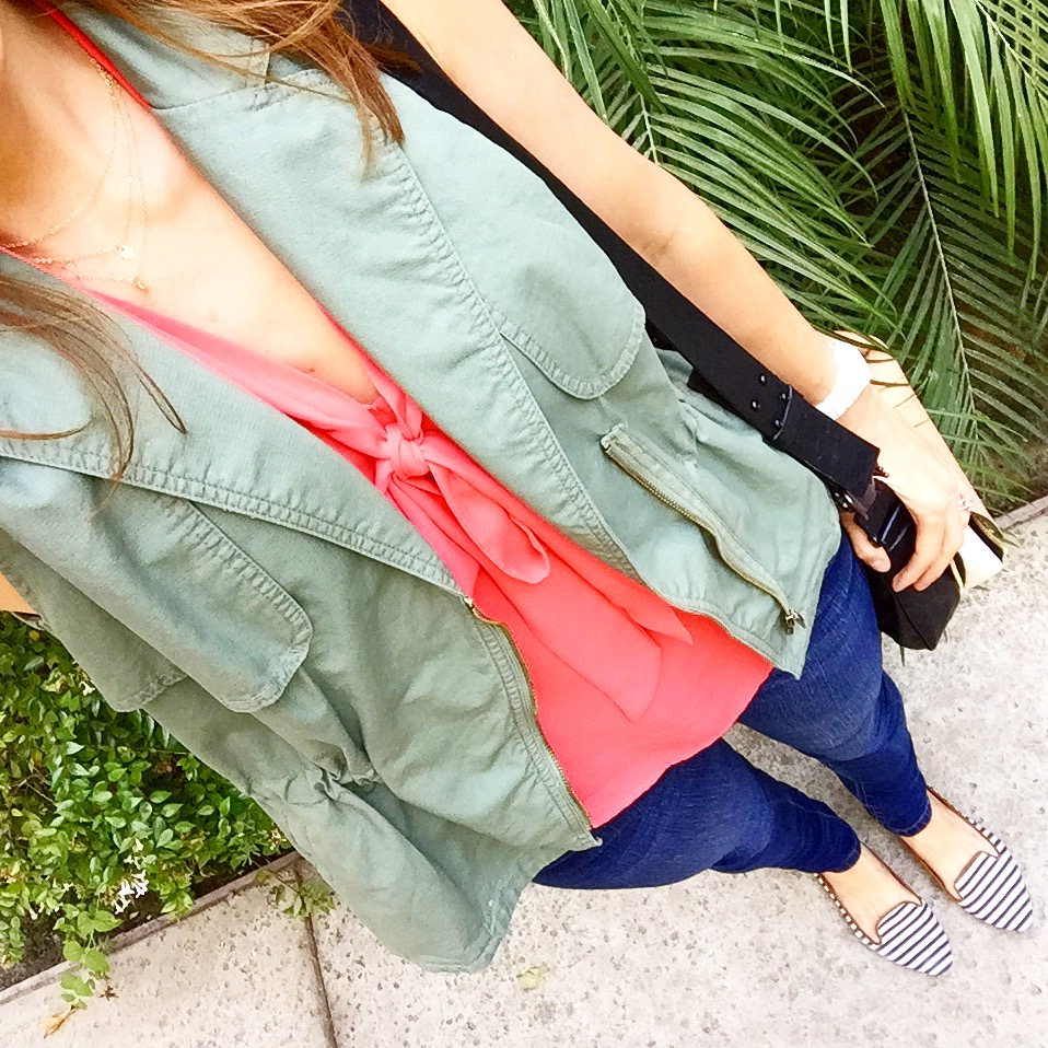 A casual look. Vests are one of my favorite ways to mix up a look.