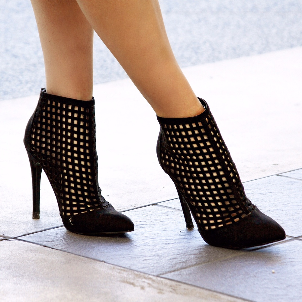 fall lattice booties