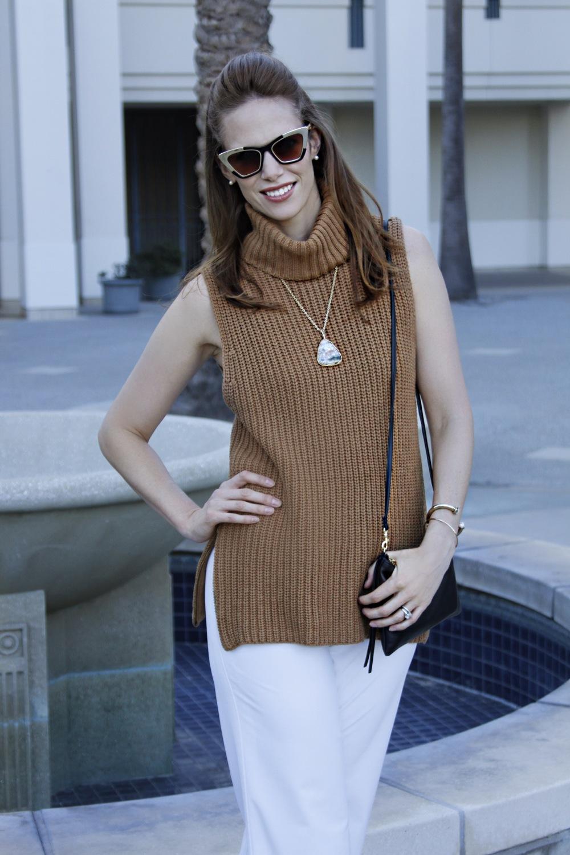 fall style chunky turtleneck retro shades
