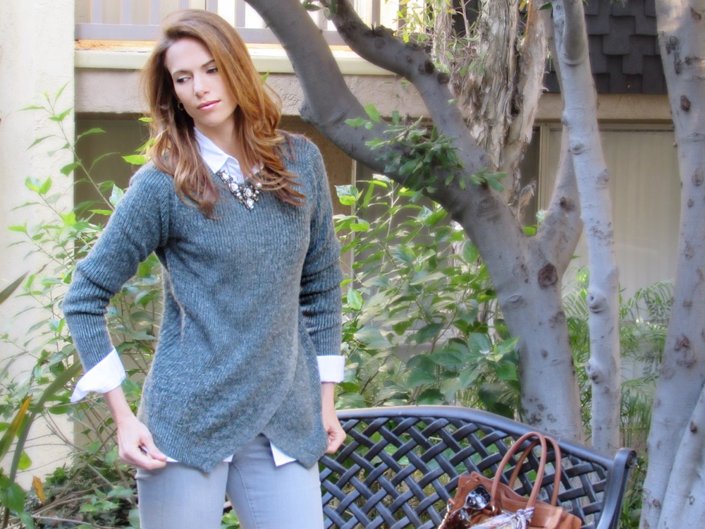 fall style sweater casual style layers