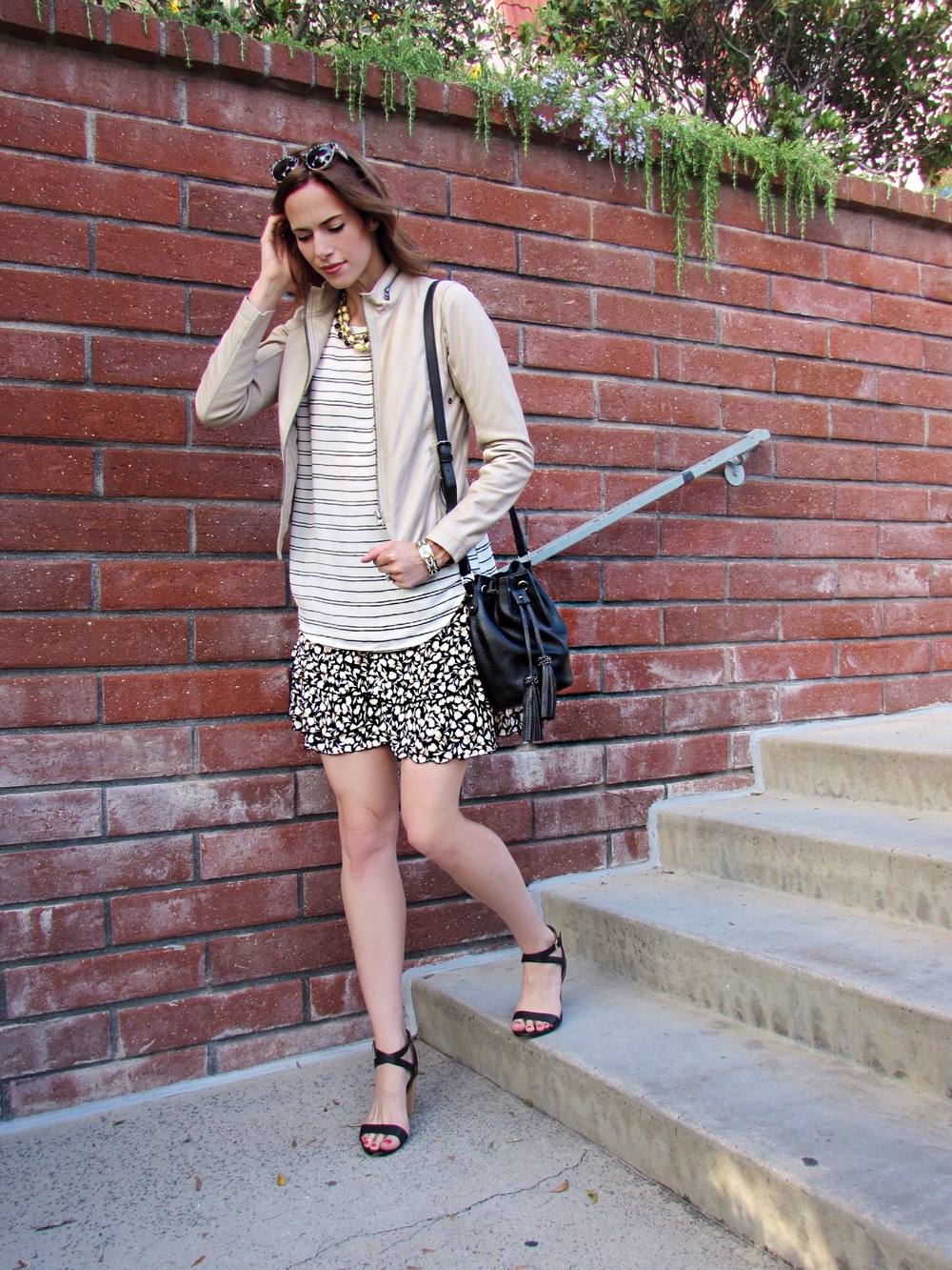 Tank, Skirt, Similar Shoes, Similar Jacket, Similar Bag, Similar Necklace