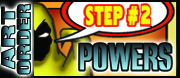 Order art :Step#2 Select your Powers & Persona