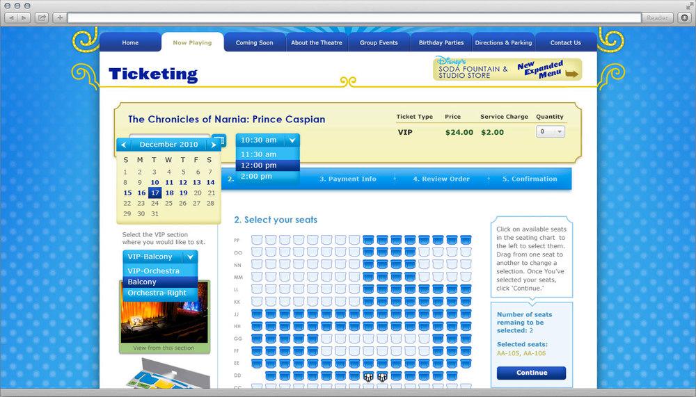 Disney el capitan theatre web design grown