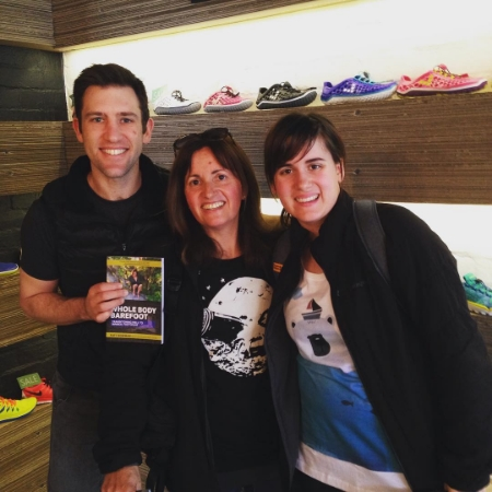 Mel and Lucy with Pete Garthwaite (Sole Mechanics Manager and Barefoot Running Coach) at the beautiful Hampton Store.