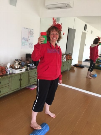 The gorgeous Melody (resplendent in a red fascinator and matching hoodie for Melbourne Cup Day!) is this weeks entrant in the Sensa Mat competition. Love your work Melody!