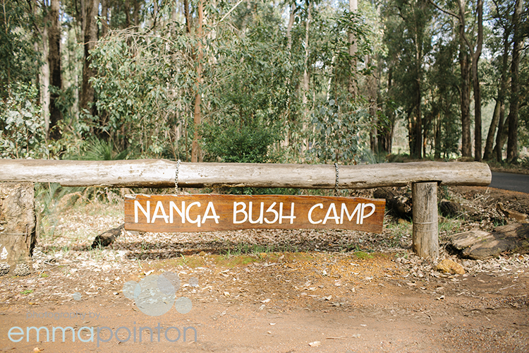 Nanga Bush Camp Sign