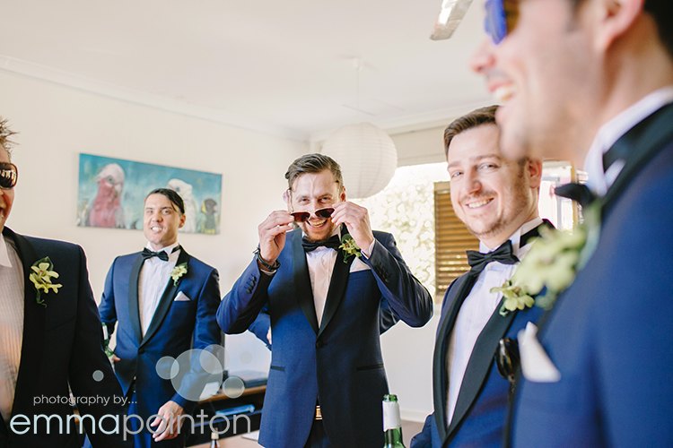 Groomsmen fun shot
