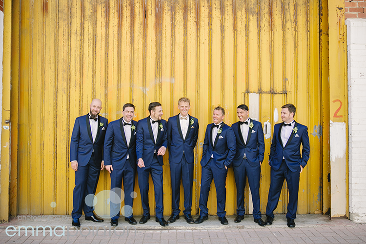 yellow wall Fremantle groomsmen