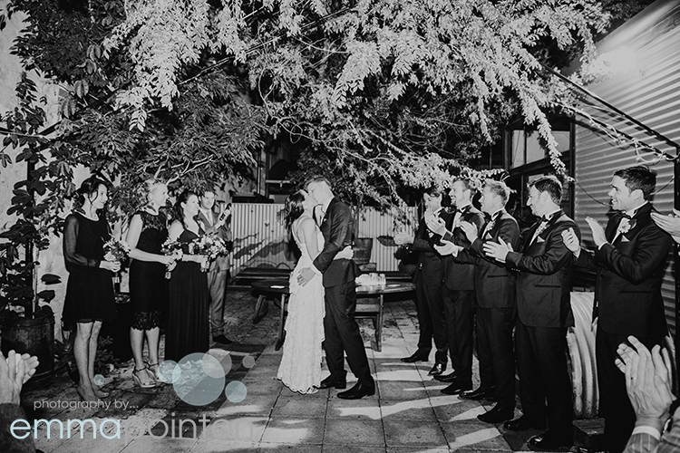 Wedding in the courtyard of Moore & Moore Cafe