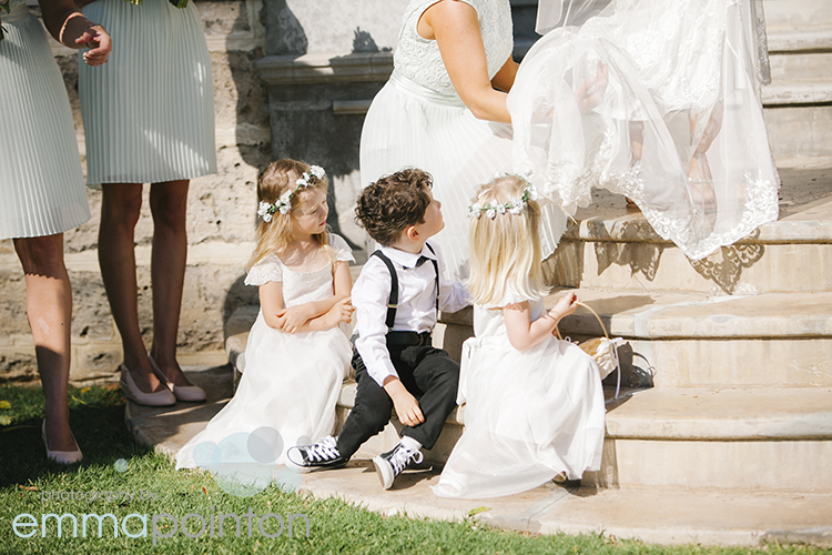 Cute kids at Cottesloe Wedding