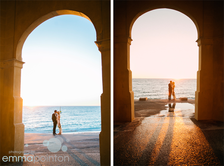 Sunset Cottesloe Wedding Photo