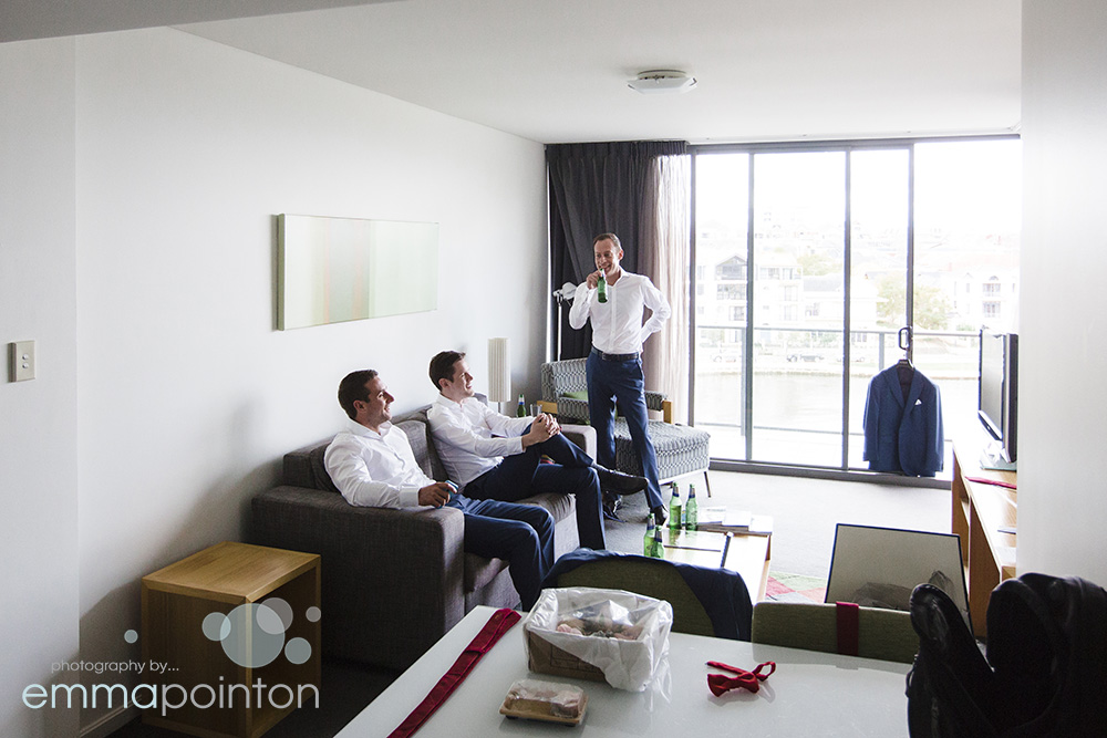 East Perth groomsmen prep
