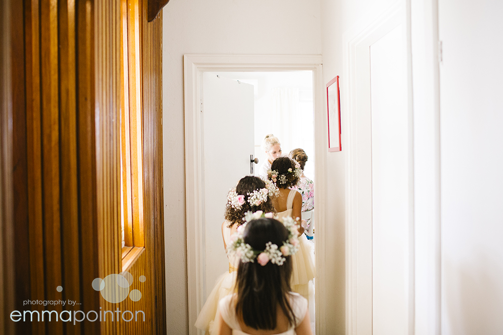 Flower girls farm wedding