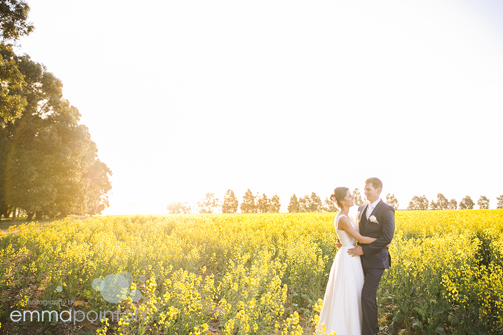 Rustic country WA wedding