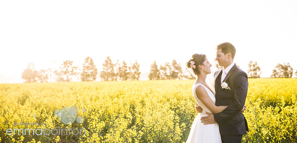Western Australian Farm Wedding Canola Fields