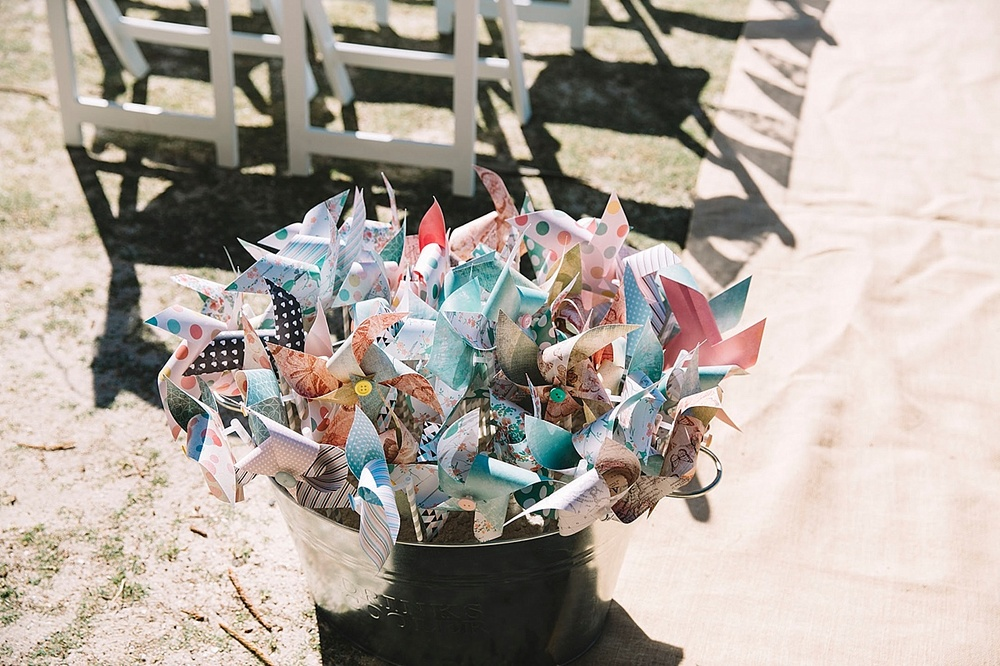 Vintage wedding favours pinwheels