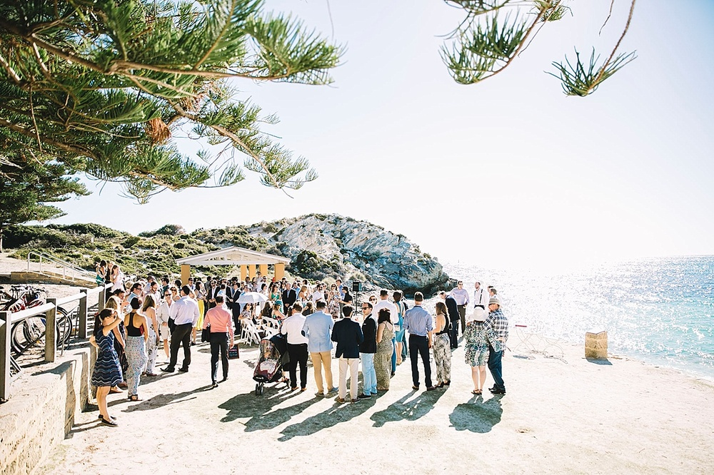 Guests at Rottnest Wedding