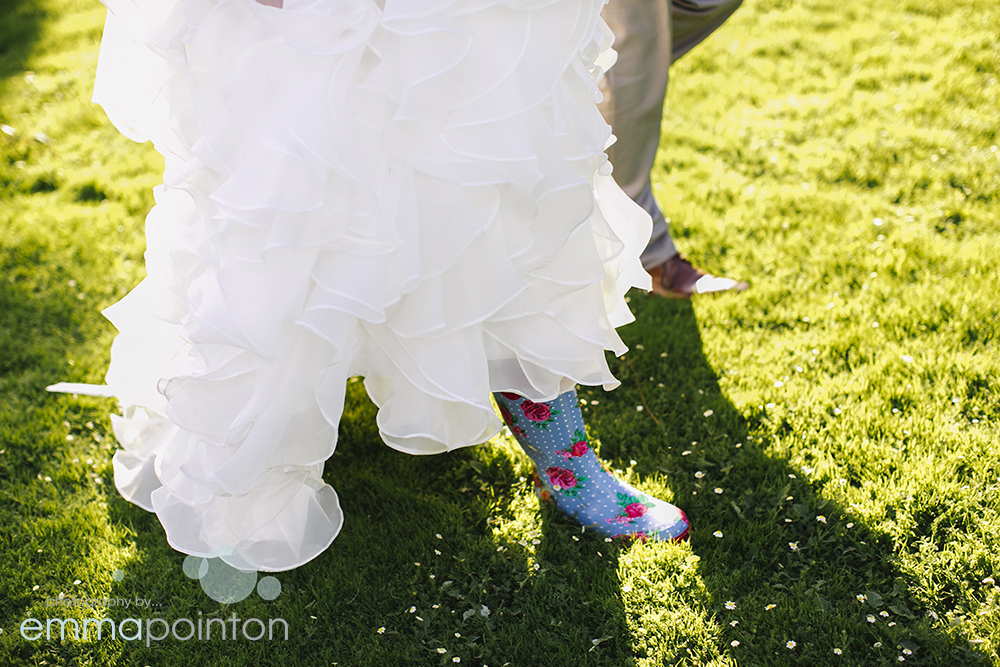 Wedding shoes with a twist