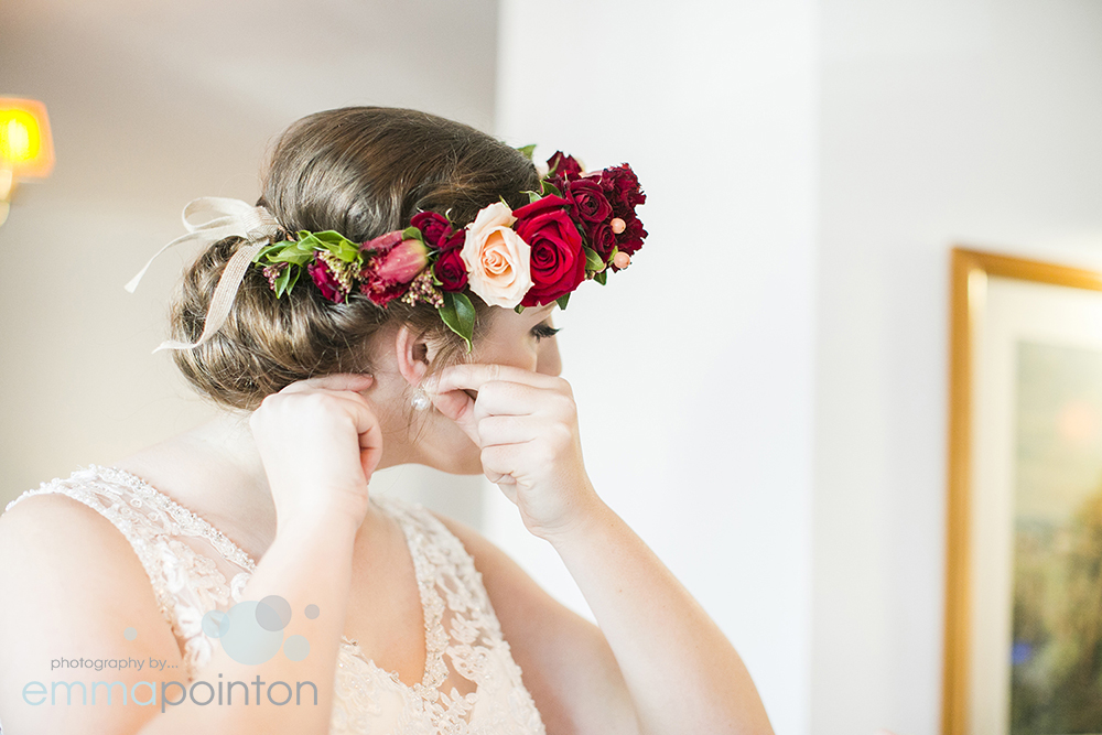Winter floral crown