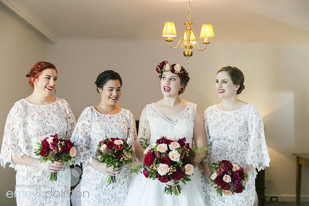 Bride and bridesmaids Fremantle wedding
