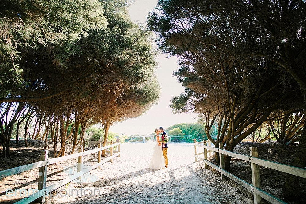 Adrienne & Ayrton at Bathers Beach for wedding portraits