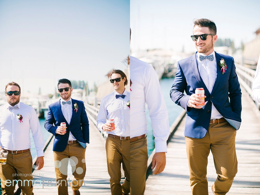Fremantle Wharf groom photos
