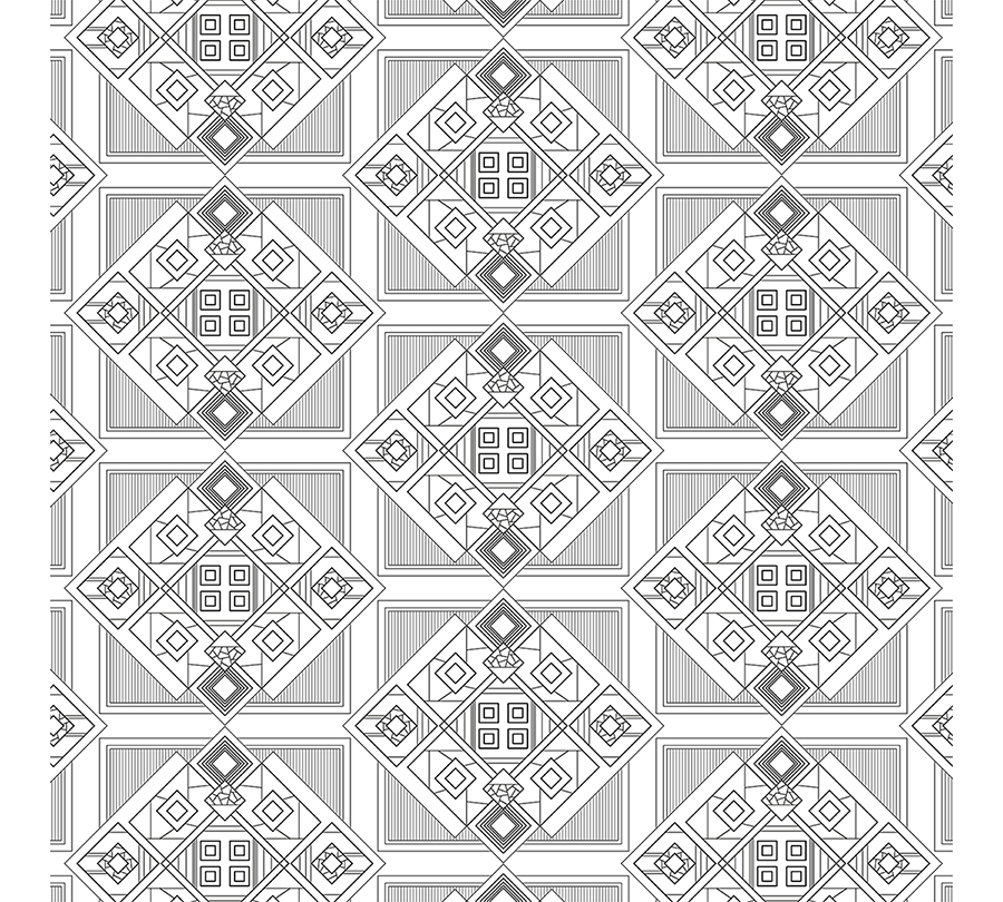 Pattern Design - An Architectural project example is shown here. Pattern Layering design; Geometrical design calculation; Graphical drawing presentation. Architectural design & build services.