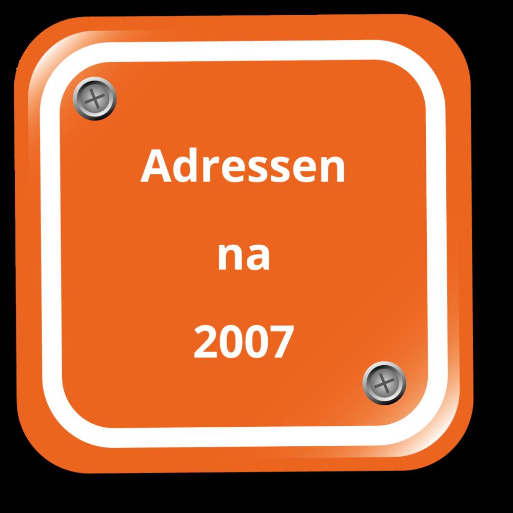 Adressen nodig van voertuigbezitters na 2007?