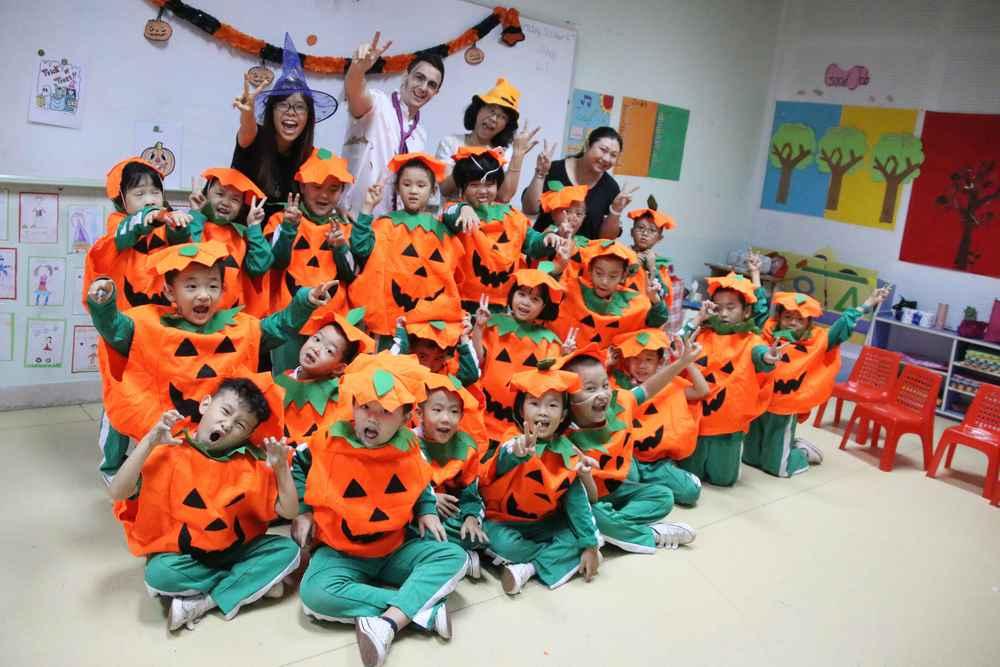 A Halloween activity class
