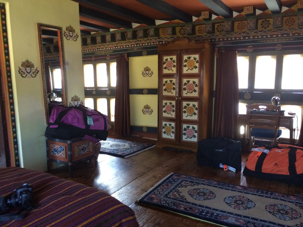 Hotel Room in Paro - was previously a palace!