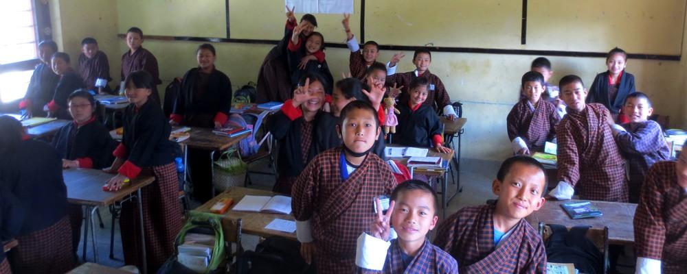 Classroom in Bhutan
