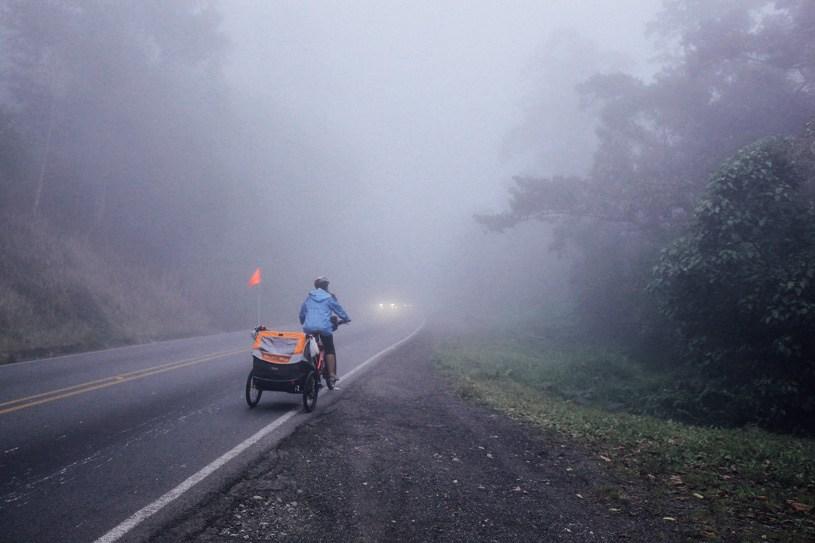 Climbing a pass Costa Rica