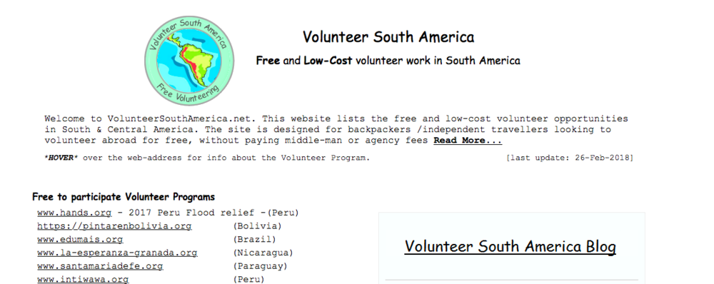 Volunteer-South-America