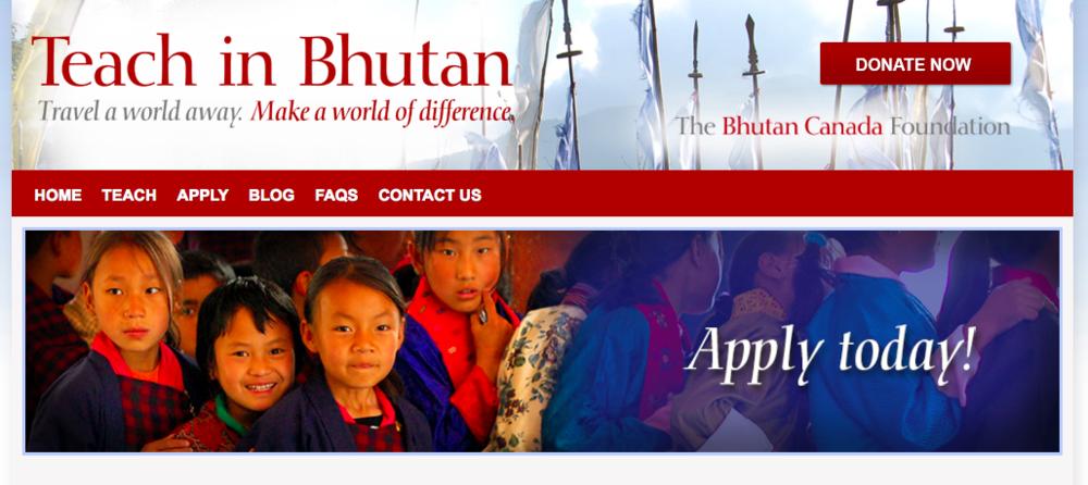 Teach-in-Bhutan