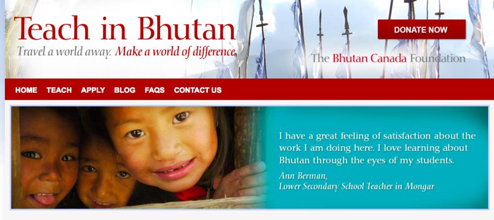 Teach in Bhutan