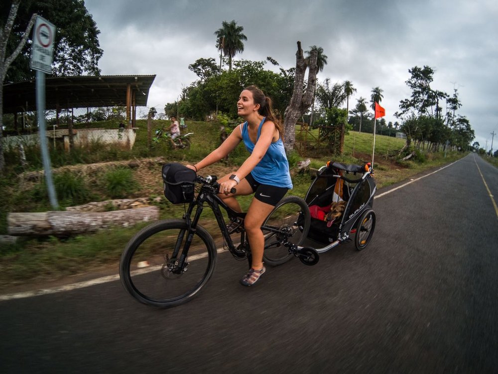 Cycling touring Costa Rica with our dog