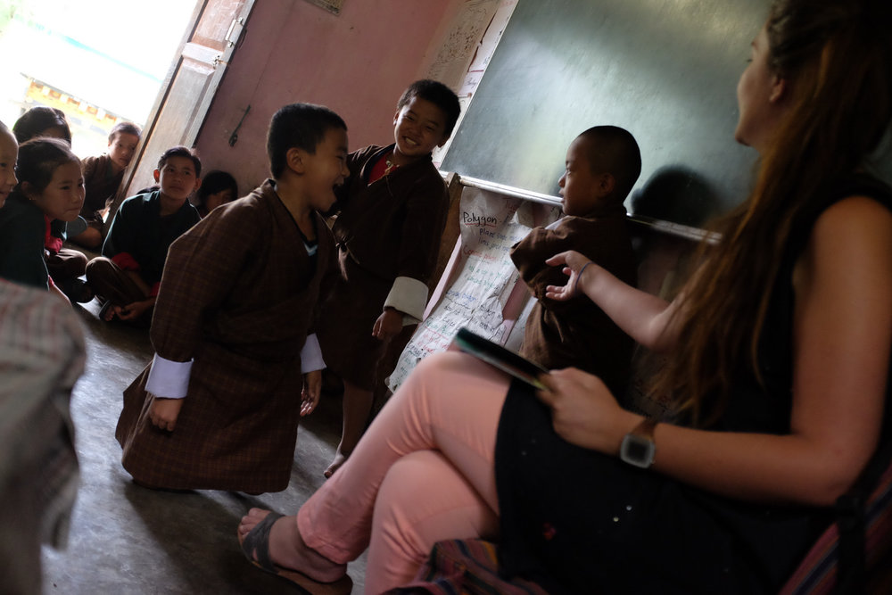 Teaching in rural Bhutan