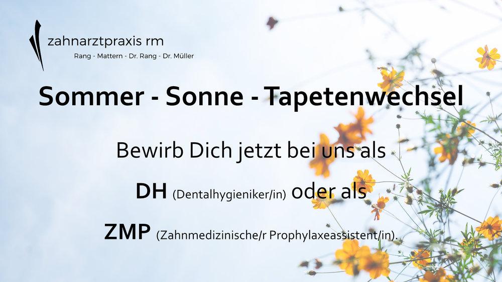 DH ZMP Zahnarztpraxis RM Hannover Stellenanzeige