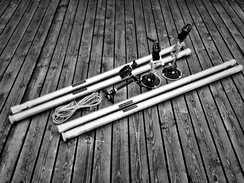 The Rig-Pro completely disassembled and ready for transport