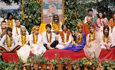 Paul Altobelli, Frank Monzo, and The Beatles visit the Maharishi in India