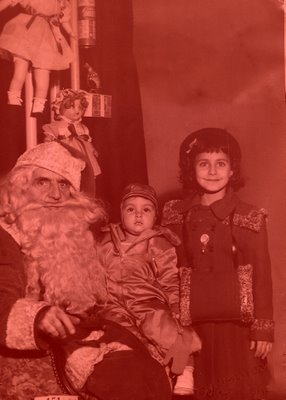 Lucy Simone, Albert Meloni, and Mean Santa