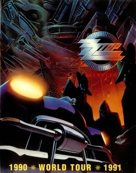 ZZ Top Recycler Tour Poster, 1990-91