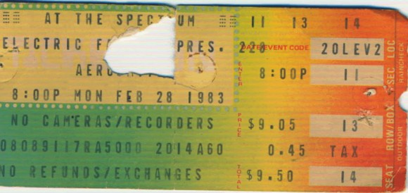 Feb 28, 1983 – Aerosmith / Anvil – The Spectrum