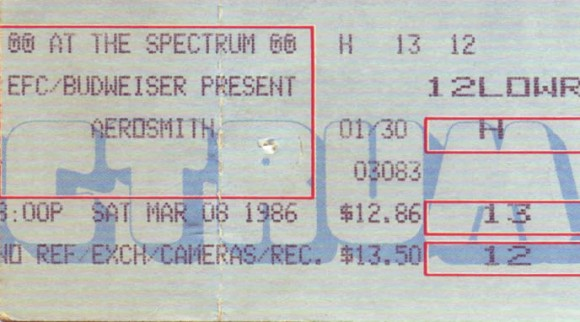 March 08, 1986 – Aerosmith / Ted Nugent – The Spectrum